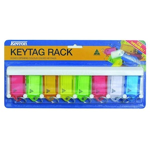 Kevron ID6 Key Tag Rack – ID5 8 Pack with Rack - Mixed