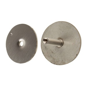 BDS cylinder hole door hole filler plate in silver finish