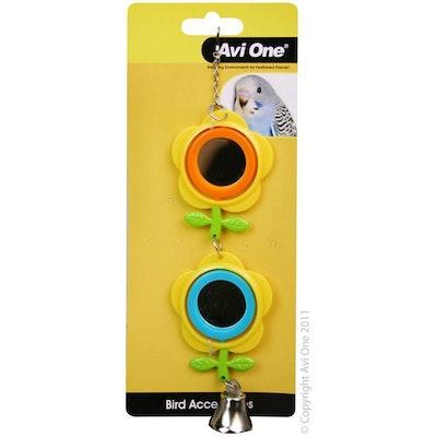Avi One Bird Toy Double Buttercup Mirror