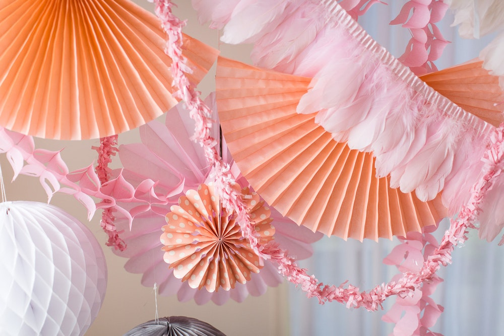 LENZO Boho Birthday Ruby Rabbit Paper Fans