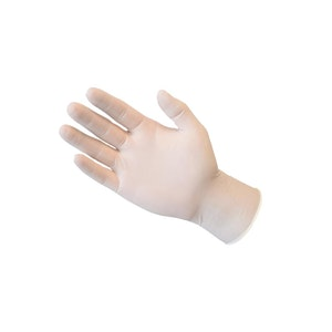 Disposable Latex Exam Gloves Clear (100 pack) - Size Small