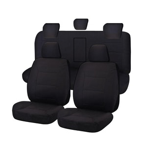 Challenger Car Seat Covers For Holden Colorado Rg Series Dual Cab 2012-2020   Black