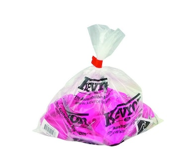 Kevron KID30 Giant Clicktag key tags, fluro pink colour in a bag of 25
