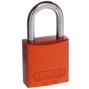 ABUS Aluminium Padlock 72/40 in Orange Keyed to Differ
