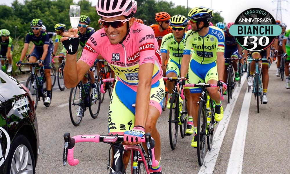 Contador Celebrates in Milan