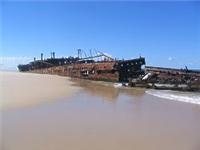 Maheno Shipwreck on the Fraser Island Beach