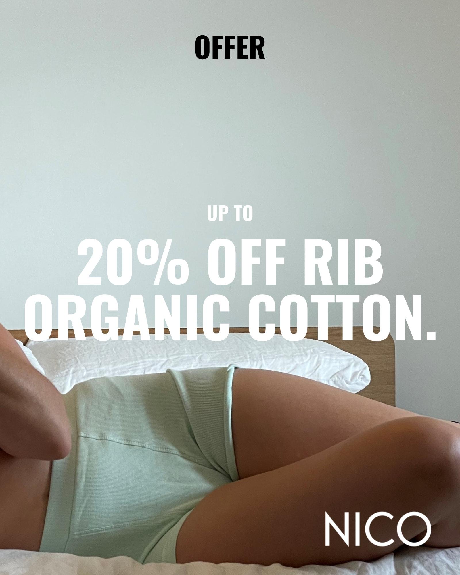 20% off Nico Rib collection