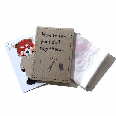 Karen Erasmus Designs Sew Together Doll – Red Panda