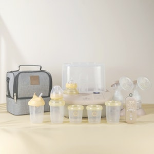 Eonian Care Newborn Baby Essental Kit ( Breast Pump, Steriliser/Dryer/Bottle Warmer, Baby Bottles & Cooler Bag )