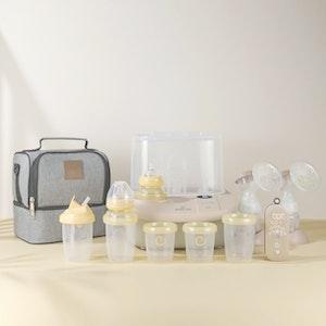 Eonian Care Newborn Baby Essental Kit ( Breast Pump, Steriliser/Dryer/Bottle Warmer, Baby Bottles & Cooler Bag )