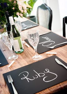 The Louvel Chalkboard Placemats