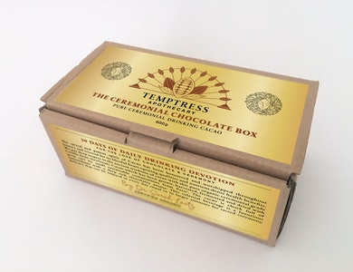 Temptress Apothecary Solid Ceremonial Cacao Bullion Bar - For the Love of Chocolate & Ceremony