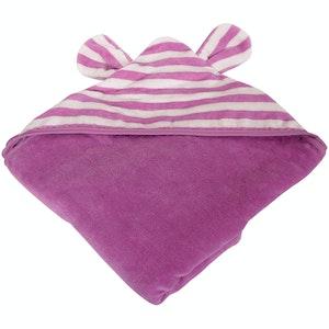 Silly Billyz Organic Plum Animal Hooded Towel