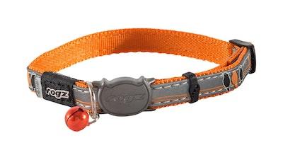 Rogz Nightcat Safeloc Collar Orange Bird