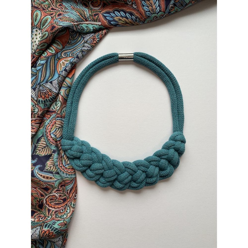 Form Norfolk Loop Knot Necklace In Teal Blue