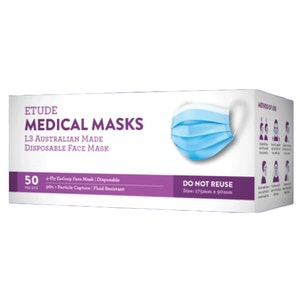 Etude Medical Masks L3 | AUSTRALIAN MADE | (50 Masks Per Box)