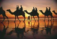 Sunset and camels Cable Beach Broome courtesy Tourism WA