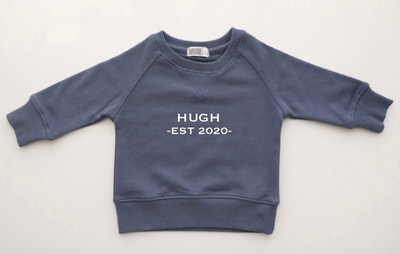 Personalised Name EST Sweater - Storm Navy