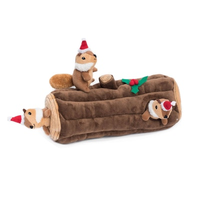 Zippy Paws Christmas Holiday Burrow - Yule Log