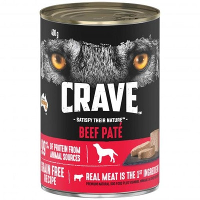 CRAVE Adult Beef Pate Wet Dog Food 400G
