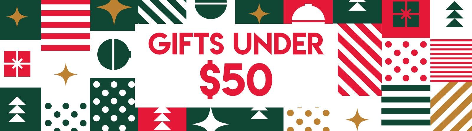 Gifts Under $50 Banner