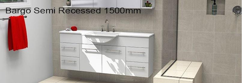 Timberline bargo 1500mm wall hung vanity pre built for Premade bathroom vanities