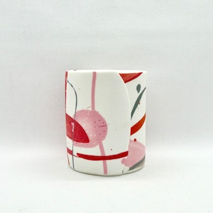 Painterly Vessel, Pink/Red/Charcoal, Medium