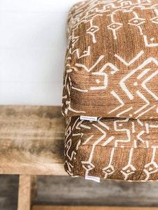 Floor Cushion Cover - Bronzed Mudcloth