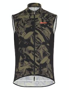 Santini Gravel Windbreaker Vest Camo