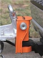 Saracen Ultra high-security hitch lock secures trailers hitched and unhitched