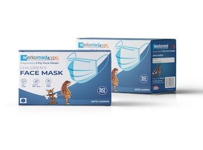 Children's Face Mask I TGA Registered I Level 2 I 3 Ply 2 I 50 Masks in total