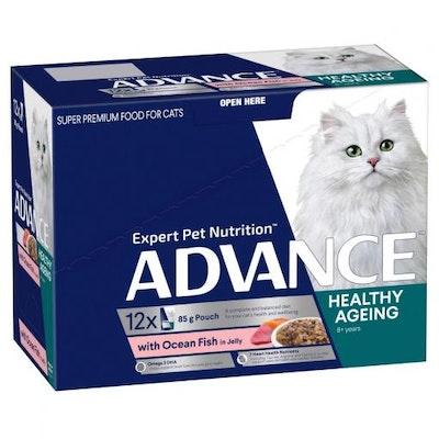 Advance Senior Ocean Fish In Jelly Wet Cat Food 12x85G