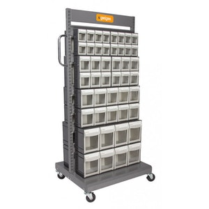 Drawer Cart Double Sided Mobile Pivot Storage MSFO4568X2