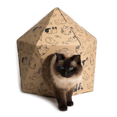 La Doggie Vita 50% OFF! ON SALE! Kitten Around - Geo Cardboard Cat House