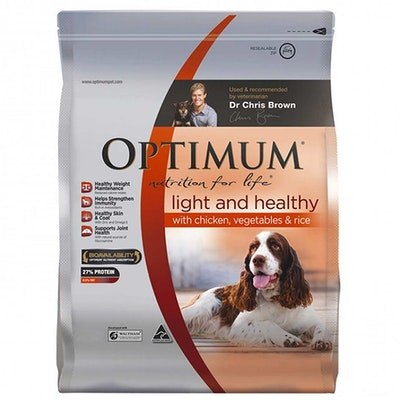 Optimum Light & Healthy Dog Adult 1+ Years With Chicken Vegetables - 3 Sizes