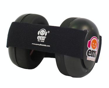 Ems for Kids BABY Earmuffs - BLACK on Black