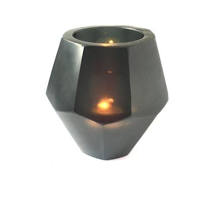 Arkara Candle Holder - Okhto Handcut Black Glass 2020