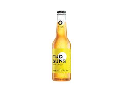 Two Suns Premium Dry Lager Bottle 330mL