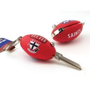 Creative Keys AFL Footy Flip Key Blank with Keyring LW4 - St Kilda Saints