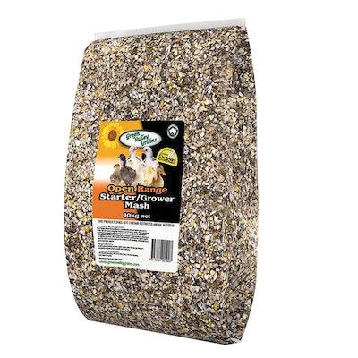 Green Valley Open Range Starter Grower Grain Mash 10kg