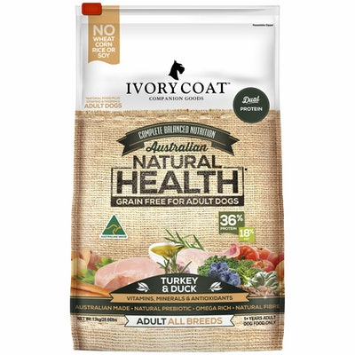 IVORY COAT Grain Free Turkey & Duck Dry Dog Food