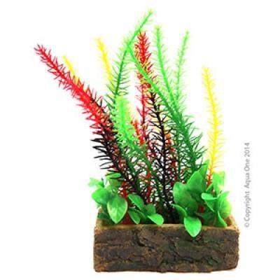 Aqua One Aquarium Ornament -Planter Box Green Egeria 10.7x6.2x20cm
