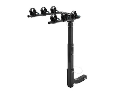 3 Bicycle Carrier Towbar Steel Foldable Hitch Mount