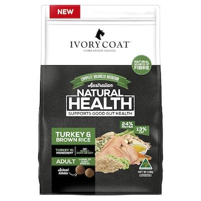 IVORY COAT Large Breed Adult Turkey & Brown Rice Dry Dog Food