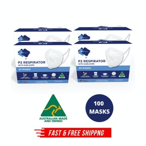 Australian Made P2 4-Layer Face Mask - 100 Pack