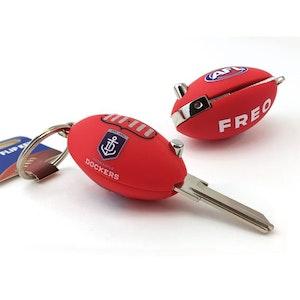 Creative Keys AFL Footy Flip Key Blank with Keyring LW4 – Fremantle Dockers