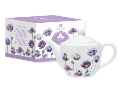 Ashdene: Purple Poppies Teapot