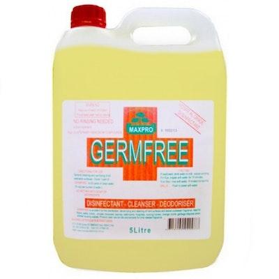 Maxpro Germ Free Disinfectant Multi Purpose Cleaner Deodoriser Lemon 5L