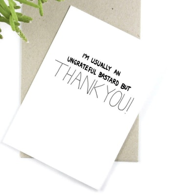 Dirty Bird Gifts Post Love Design Gift Card - THANK YOU 2021