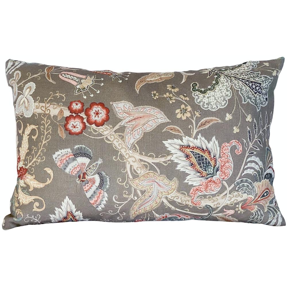 The Cushion Maven Handmade Linen Cushion In An Elegant Floral